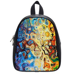 Background Structure Absstrakt Color Texture School Bags (small)  by Amaryn4rt