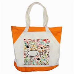 Flower Floral Rose Sunflower Bird Back Color Orange Purple Yellow Red Accent Tote Bag by Alisyart