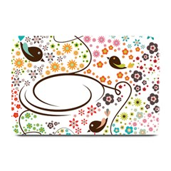 Flower Floral Rose Sunflower Bird Back Color Orange Purple Yellow Red Plate Mats by Alisyart