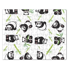 Panda Tile Cute Pattern Rectangular Jigsaw Puzzl