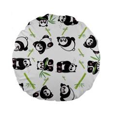 Panda Tile Cute Pattern Standard 15  Premium Round Cushions by Amaryn4rt