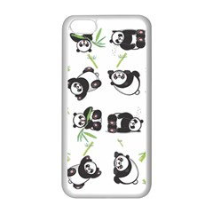 Panda Tile Cute Pattern Apple Iphone 5c Seamless Case (white)