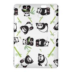 Panda Tile Cute Pattern Kindle Fire Hdx 8 9  Hardshell Case by Amaryn4rt