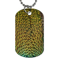 Colorful Iridescent Feather Bird Color Peacock Dog Tag (one Side) by Amaryn4rt