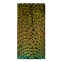 Colorful Iridescent Feather Bird Color Peacock Shower Curtain 36  X 72  (stall)  by Amaryn4rt