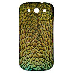 Colorful Iridescent Feather Bird Color Peacock Samsung Galaxy S3 S Iii Classic Hardshell Back Case by Amaryn4rt