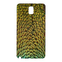 Colorful Iridescent Feather Bird Color Peacock Samsung Galaxy Note 3 N9005 Hardshell Back Case by Amaryn4rt