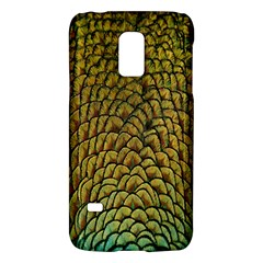 Colorful Iridescent Feather Bird Color Peacock Galaxy S5 Mini by Amaryn4rt