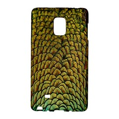 Colorful Iridescent Feather Bird Color Peacock Galaxy Note Edge by Amaryn4rt