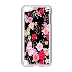 Flower Arrangements Season Rose Butterfly Floral Pink Red Yellow Apple Ipod Touch 5 Case (white) by Alisyart