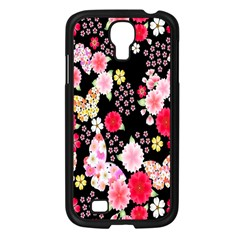 Flower Arrangements Season Rose Butterfly Floral Pink Red Yellow Samsung Galaxy S4 I9500/ I9505 Case (black) by Alisyart
