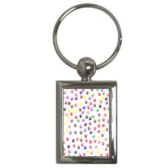 Paw Prints Background Key Chains (rectangle)  by Amaryn4rt