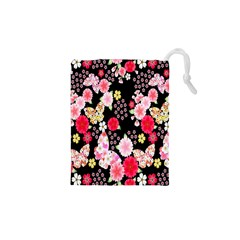 Flower Arrangements Season Rose Butterfly Floral Pink Red Yellow Drawstring Pouches (xs)  by Alisyart