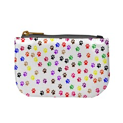 Paw Prints Background Mini Coin Purses by Amaryn4rt