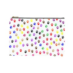 Paw Prints Background Cosmetic Bag (large)  by Amaryn4rt