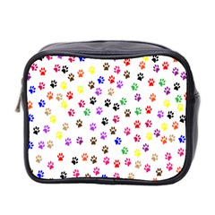 Paw Prints Background Mini Toiletries Bag 2 Side