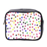Paw Prints Background Mini Toiletries Bag 2-Side Front