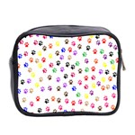Paw Prints Background Mini Toiletries Bag 2-Side Back