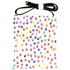 Paw Prints Background Shoulder Sling Bags