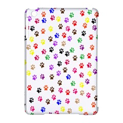 Paw Prints Background Apple Ipad Mini Hardshell Case (compatible With Smart Cover) by Amaryn4rt