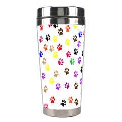 Paw Prints Background Stainless Steel Travel Tumblers by Amaryn4rt