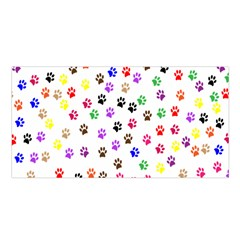 Paw Prints Background Satin Shawl by Amaryn4rt