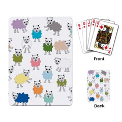 Sheep Cartoon Colorful Playing Card by Amaryn4rt