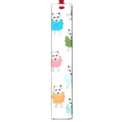 Sheep Cartoon Colorful Large Book Marks by Amaryn4rt