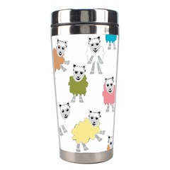 Sheep Cartoon Colorful Stainless Steel Travel Tumblers by Amaryn4rt