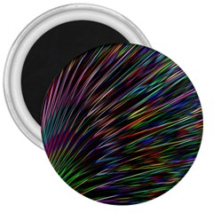 Texture Colorful Abstract Pattern 3  Magnets by Amaryn4rt