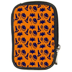 Witch Hat Pumpkin Candy Helloween Blue Orange Compact Camera Cases by Alisyart