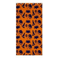 Witch Hat Pumpkin Candy Helloween Blue Orange Shower Curtain 36  X 72  (stall)  by Alisyart
