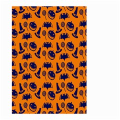 Witch Hat Pumpkin Candy Helloween Blue Orange Small Garden Flag (two Sides) by Alisyart
