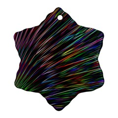 Texture Colorful Abstract Pattern Ornament (snowflake) by Amaryn4rt