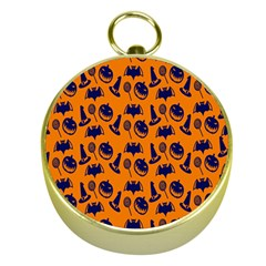 Witch Hat Pumpkin Candy Helloween Blue Orange Gold Compasses by Alisyart