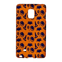 Witch Hat Pumpkin Candy Helloween Blue Orange Galaxy Note Edge by Alisyart