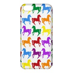 Colorful Horse Background Wallpaper Apple Iphone 5c Hardshell Case by Amaryn4rt