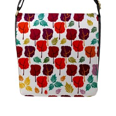 Tree Pattern Background Flap Messenger Bag (l)  by Amaryn4rt