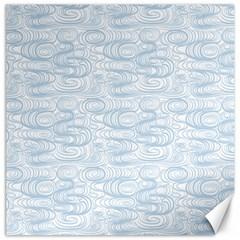 Wind Waves Grey Canvas 12  X 12   by Alisyart