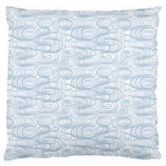 Wind Waves Grey Large Cushion Case (two Sides) by Alisyart