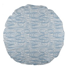 Wind Waves Grey Large 18  Premium Round Cushions by Alisyart