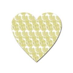 Waves Flower Heart Magnet by Alisyart