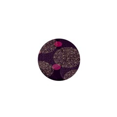 Twig Surface Design Purple Pink Gold Circle 1  Mini Buttons by Alisyart