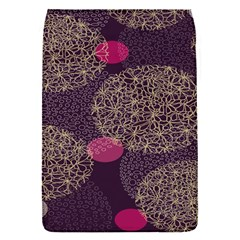 Twig Surface Design Purple Pink Gold Circle Flap Covers (s)  by Alisyart