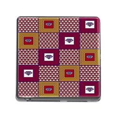 African Fabric Diamon Chevron Yellow Pink Purple Plaid Memory Card Reader (square) by Alisyart