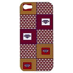 African Fabric Diamon Chevron Yellow Pink Purple Plaid Apple Iphone 5 Hardshell Case by Alisyart