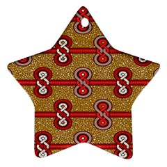 African Fabric Iron Chains Red Purple Pink Ornament (star) by Alisyart