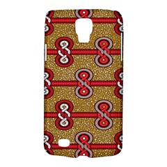 African Fabric Iron Chains Red Purple Pink Galaxy S4 Active by Alisyart