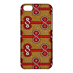 African Fabric Iron Chains Red Purple Pink Apple Iphone 5c Hardshell Case by Alisyart