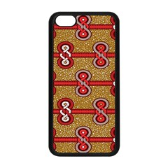 African Fabric Iron Chains Red Purple Pink Apple Iphone 5c Seamless Case (black) by Alisyart
